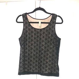 J. Crew Womens Black Lace Cotton Sleeveless Top 6